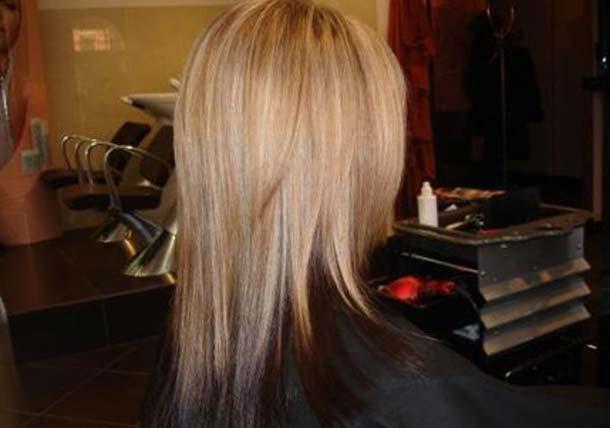 Покрасить волосы в два цвета верх светлый низ
