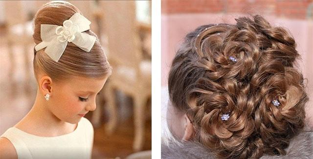 Причёски на длинные волосы для девочек на свадьбу