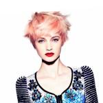 рыже-розовые волосы