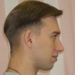 контраст длины волос