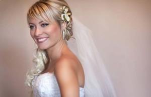 свадебная причёска с чёлкой