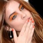 оранжевые тени
