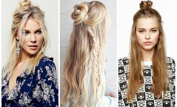 Прически на средние волосы 2017 модные фото