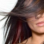 красные перья волос