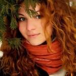 коричневый шарфик