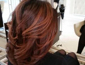 окрашивание тёмных волос