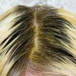 волосы в пасте