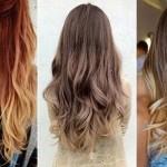 деграде на длинные волосы