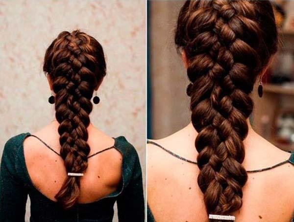 видео плетение косы
