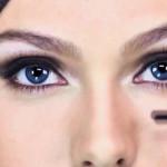 тёмно-синие глаза