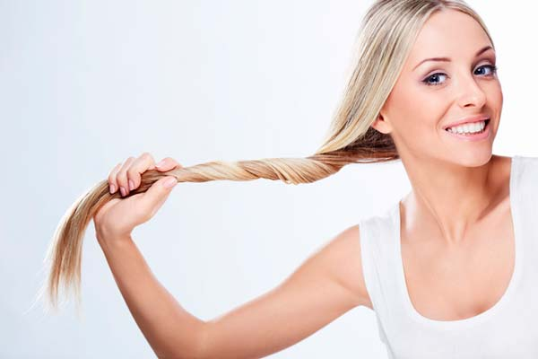 Миндальное масло и соль для волос