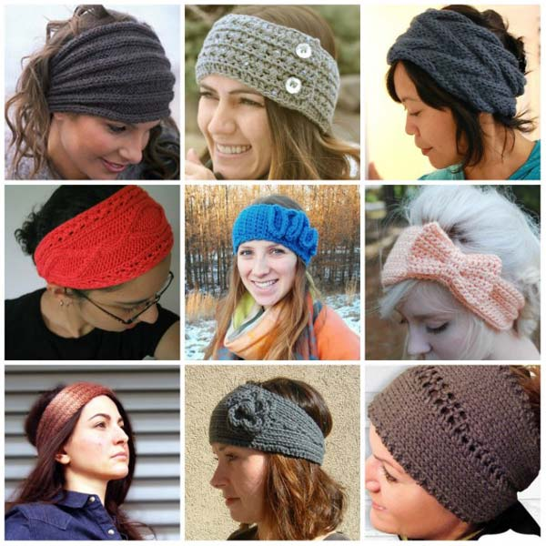 повязка на голову спицами для девочек и женщин схемы и описание